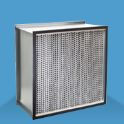 Deep Pleat Aluminum Separator HEPA Filter